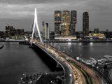 Poster 30×15. 'Skyline Rotterdam by Night – Rotterdams Finest ! ' van Sylvester Lobé