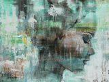 Aluminium Dibond 125×85. 'Angie green' van Paint- Ing