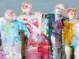 Aluminium Dibond 110×35. 'Party people' van Paint- Ing