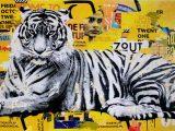 Aluminium Dibond 125×80. 'Tigerstyle' van Michiel Folkers