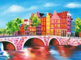 Aluminium Dibond 125×85. 'Schilderij Amsterdam 2' van Kunst Company