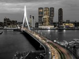 Poster 30×15. 'Skyline Rotterdam by Night – Rotterdams Finest ! ' van Sylvester Lobé