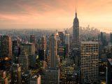 Aluminium Dibond 125×80. 'New York Panorama' van Jesse Kraal
